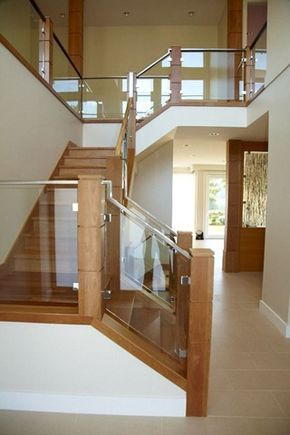 Glass And Wood Staircase Simple But Beautiful Yes Yes Yes I Am