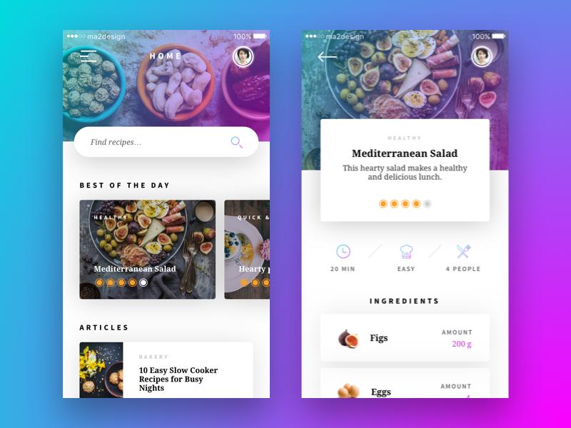 Recipe App Concept Food App Mobile App Design Mobile App Inspiration