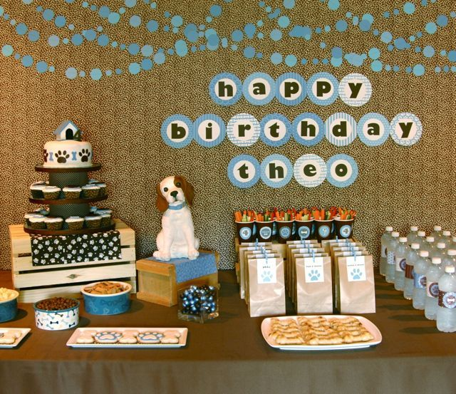 Puppy dog birthday theme...also check out the amazing construction party theme that inspired me last year!