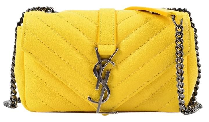 8f0b4ce9733a Saint Laurent Baby Ysl Monogram Quilted Lether Chain Shoulder Bag. Get one  of the hottest styles of the season! The Saint Laurent Baby Ysl Monogram  Quilted ...