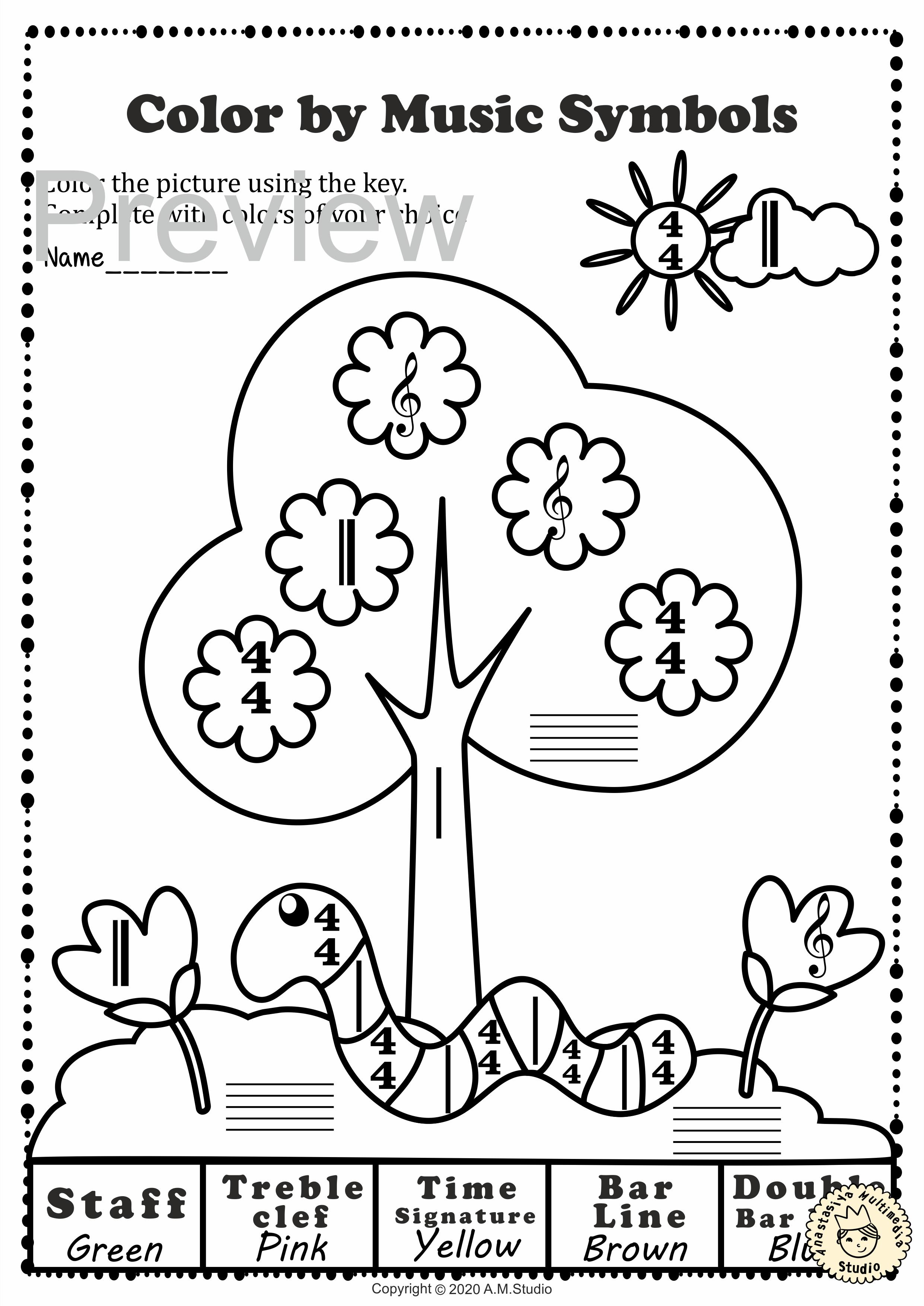Spring Color By Note Activities Music Symbols Music Symbols Animal Worksheets Spring Worksheets Preschool [ 3508 x 2482 Pixel ]