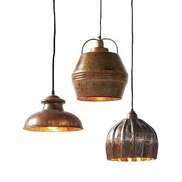 Contemporary Vintage Metal Barrel Pendant Lights grandinroad For Your Plan - Style Of small lantern pendant light For Your House