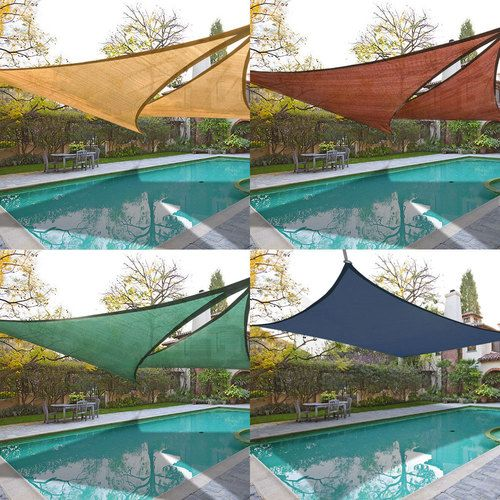 2x sun shade sail top outdoor canopy patio cover 11 5 16 5