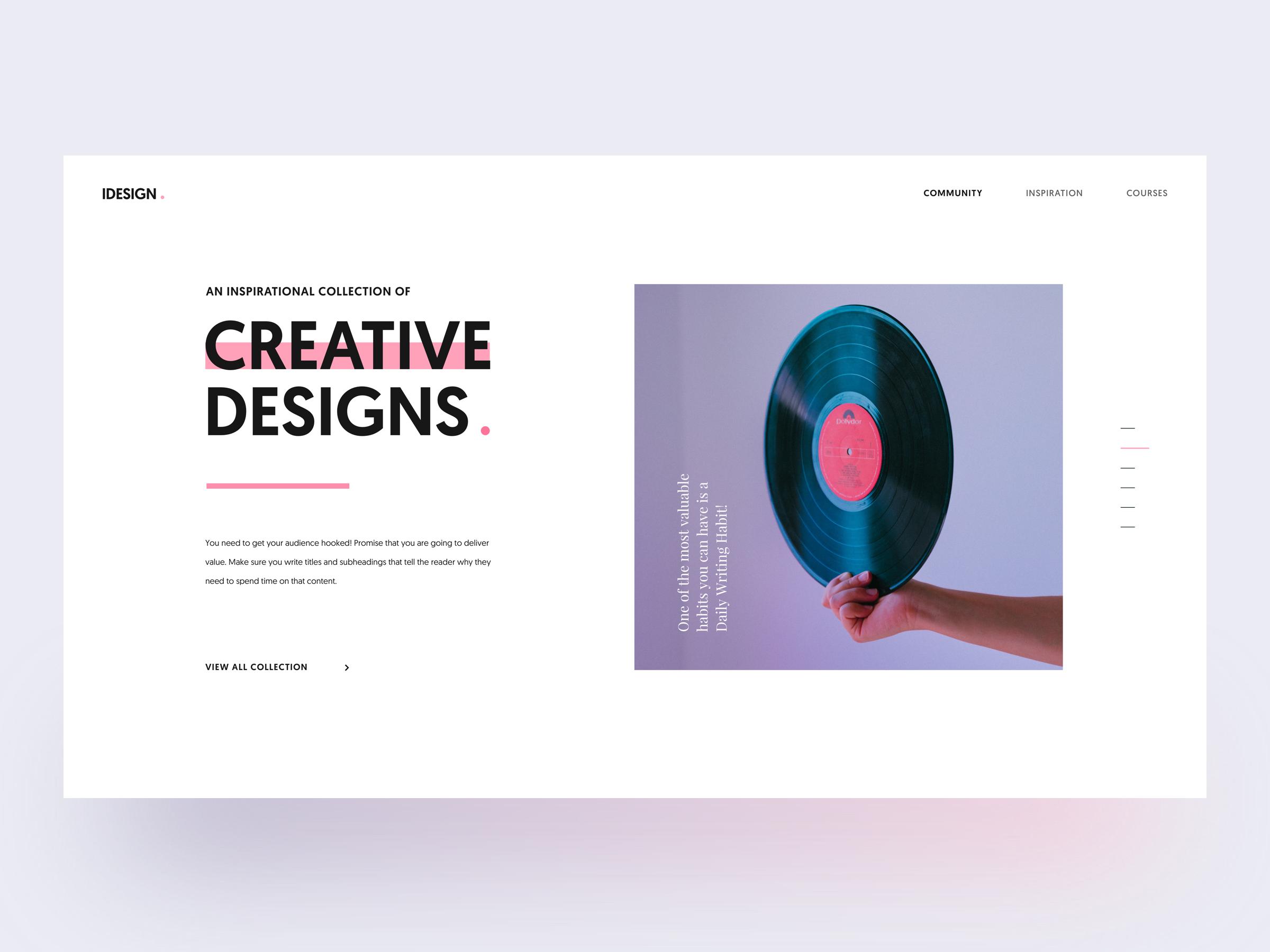 iDesign Layout Exploration Clean Design