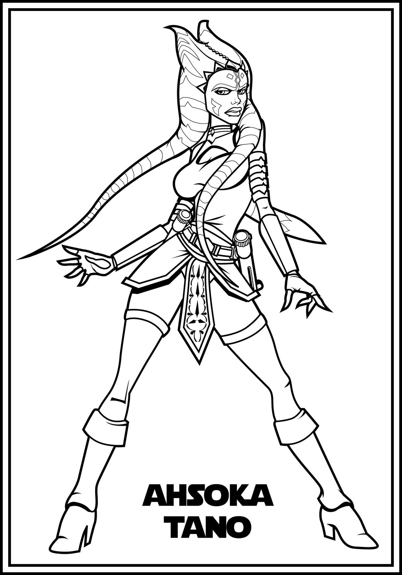 Adult Ahsoka Color Me By The First Magelord Deviantart Com On