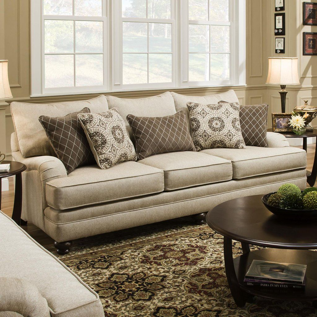 this sofa is the queen of its collection it features a traditional
