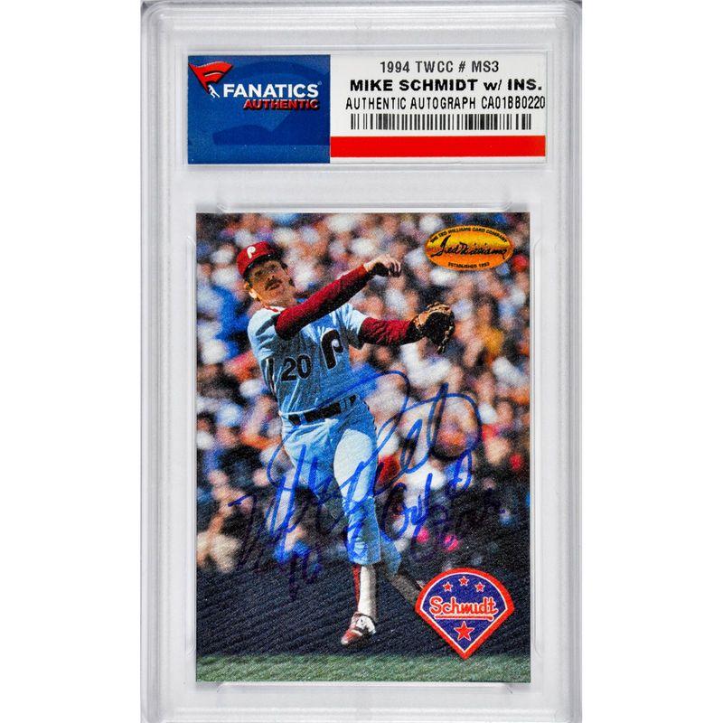 Mike Schmidt Philadelphia Phillies Fanatics Authentic Autographed 1994 Twcc MS3 Card with 10x Gold Glove Inscription