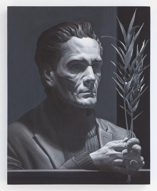 Nicola Verlato, Pierpaolo. Tempera su tavola, 51x41 cm, 2014.