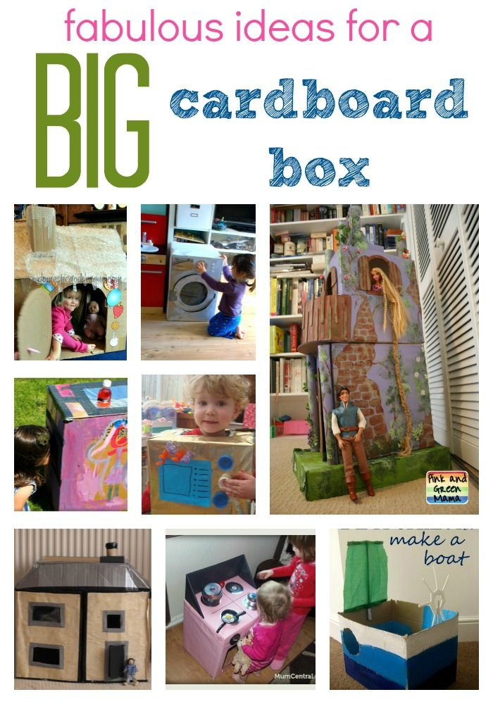 Fabulous Things To Do With A Big Cardboard Box Craft Activities For Kids Crafty Kids Fun Activities For Kids