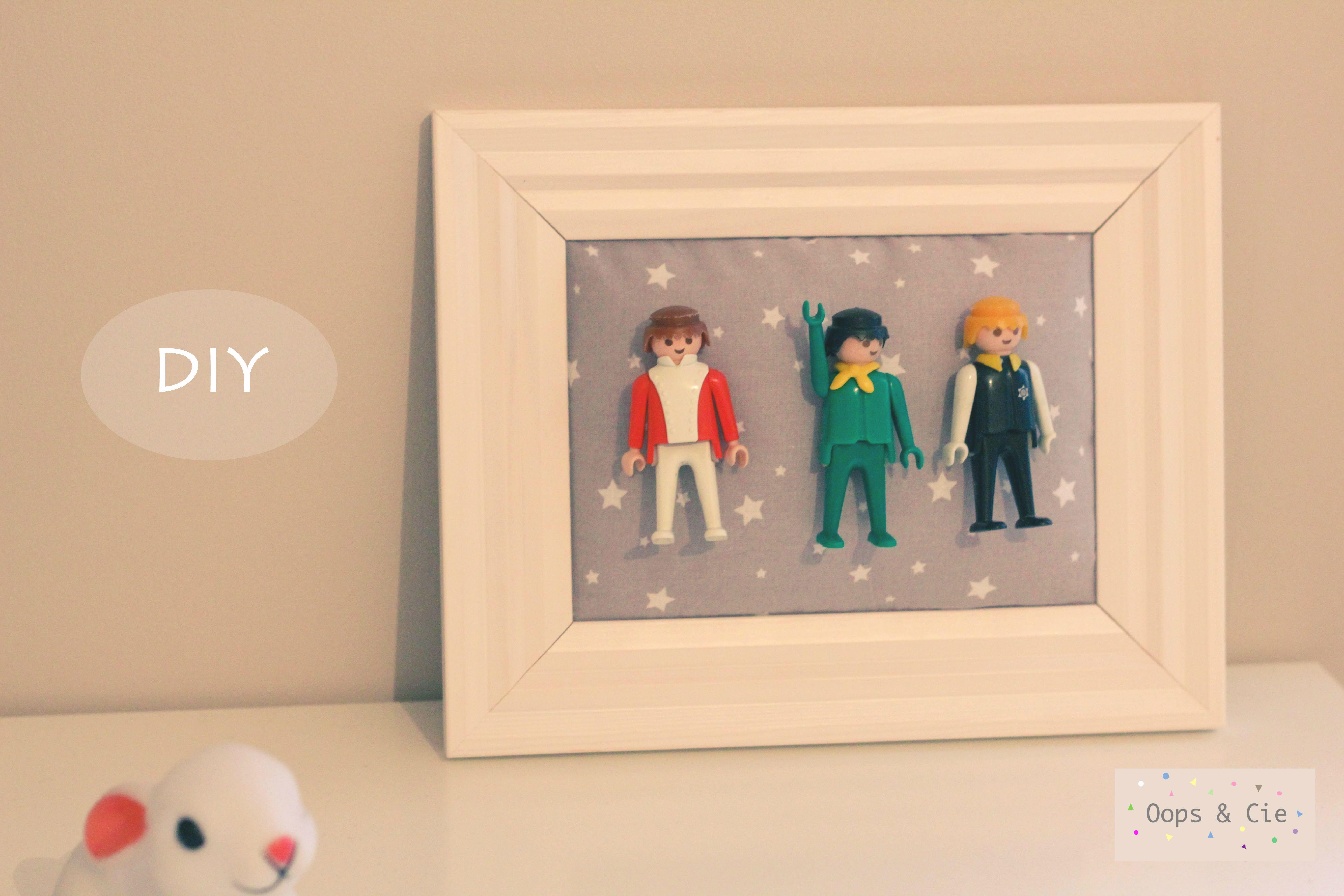 Cadre décoratif pour chambre d enfants avec Playmobils