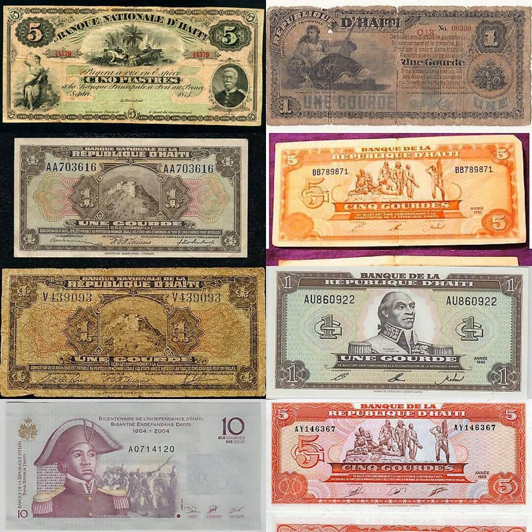 Haitian Money From 1875 To 2004