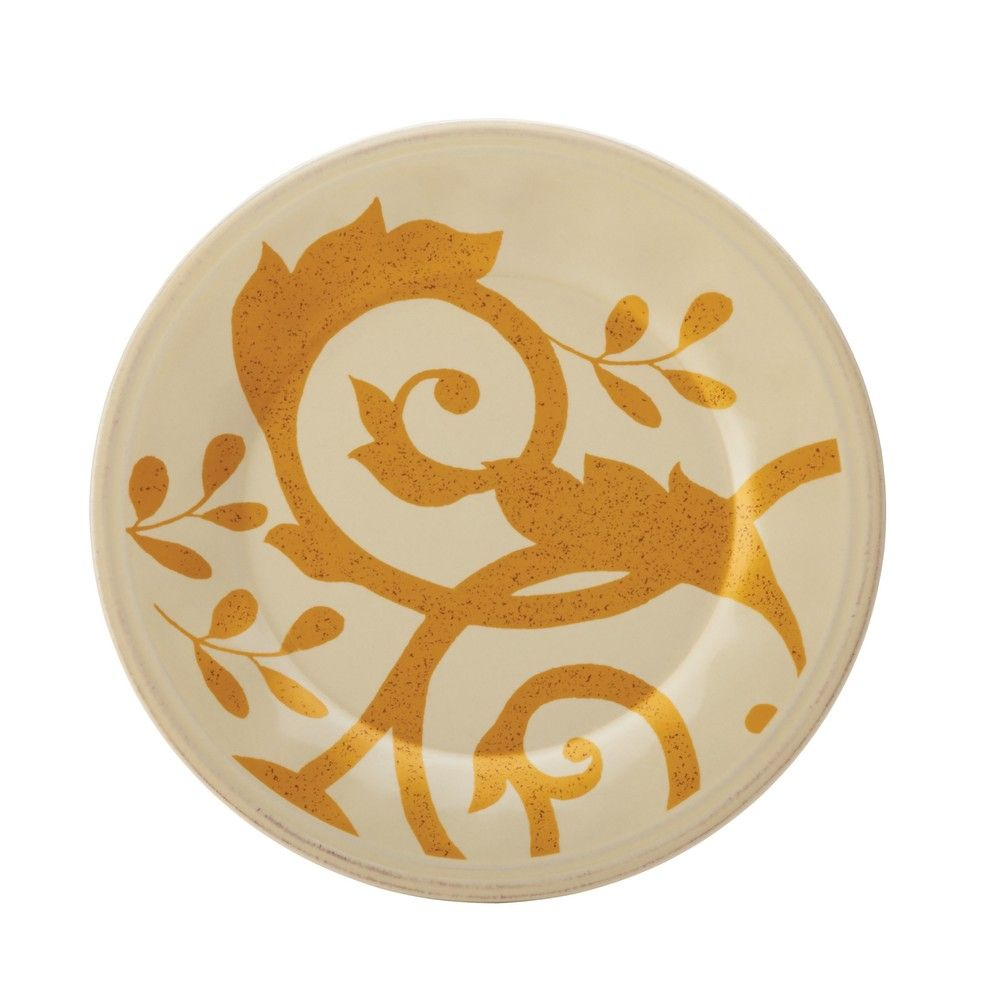 Rachael Ray Dinnerware Gold Scroll 4-piece Round Appetizer Plate Set | Overstock™ Shopping - Great Deals on Rachael Ray Plates  23