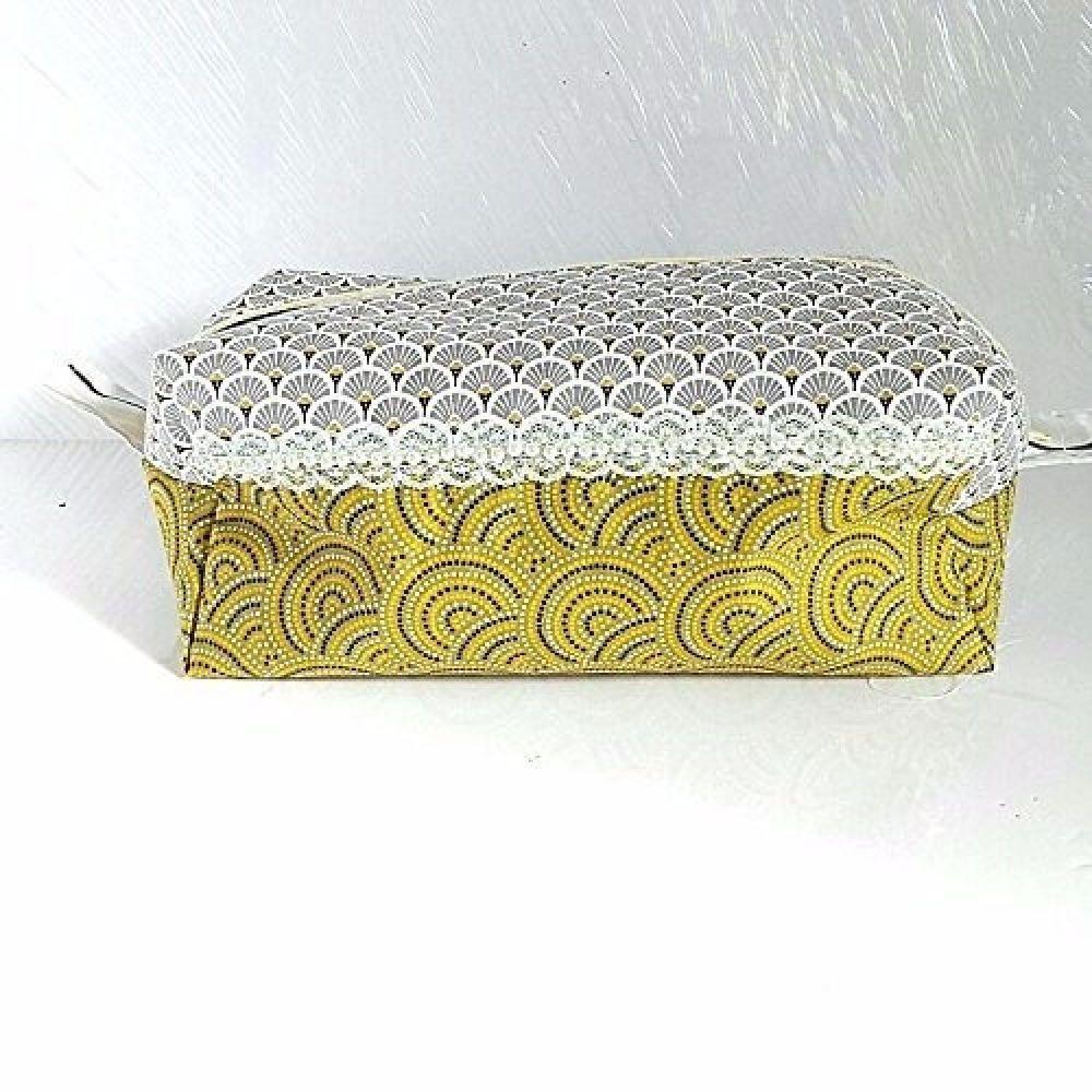 trousse de toilette de voyage rectangulaire tissu japonais trousse produits  de beauté salle de bains cadeau 38d38931a823
