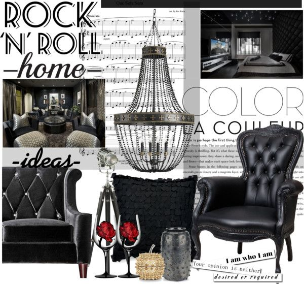 Rock  roll by maddycruise on polyvore also interiors and room rh pinterest