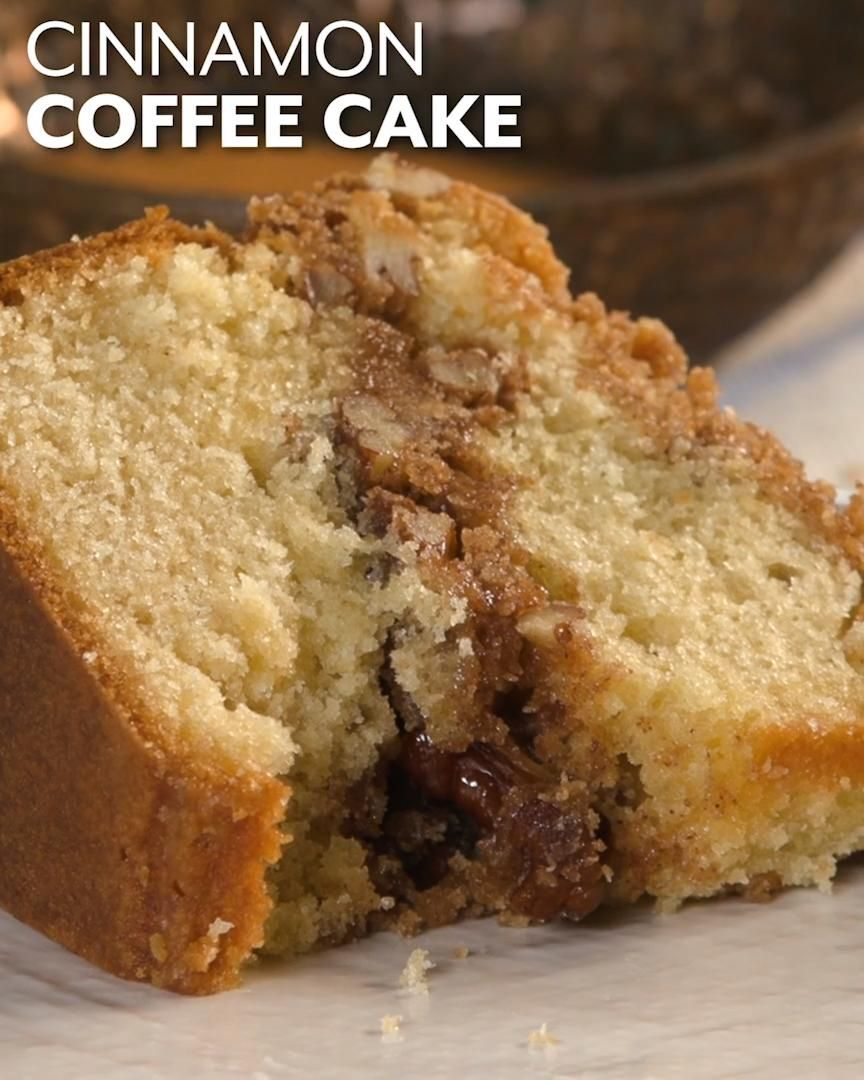 Cinnamon Coffee Cake Recipe Video Recipe Video In 2020 Coffee Cake Recipes Easy Coffee Cake Recipes Coffee Cake