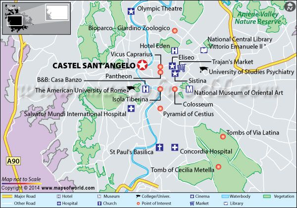 Castel Sant Angelo Rome Italy Map Location Facts Tickets