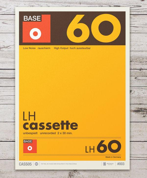 Diseños #Vintage inspirados en los stickers de los cassettes - diseos vintage