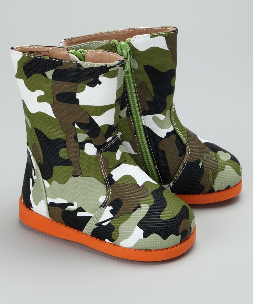 Tootin' Tootsies Green Cute 'n' Camo Squeaker Boot