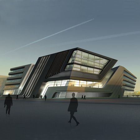 Modern Architecture Library library and learning centre in viennazaha hadid architects
