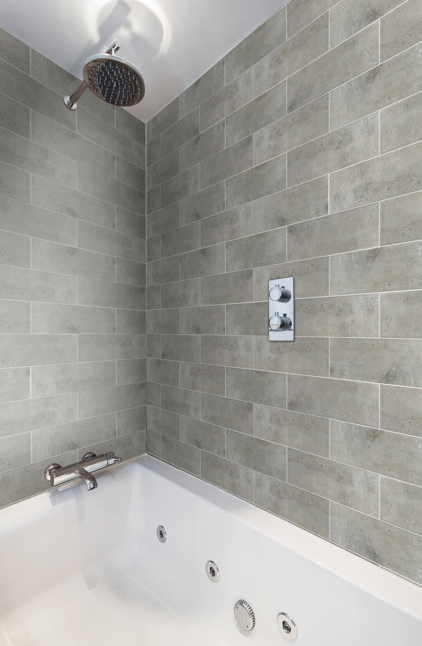 Grey Brick Tiles For Bathroom