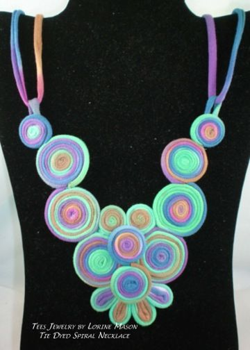T-Shirt Jewelry Tie Dyed Spiral Necklace - Crafting Rocks