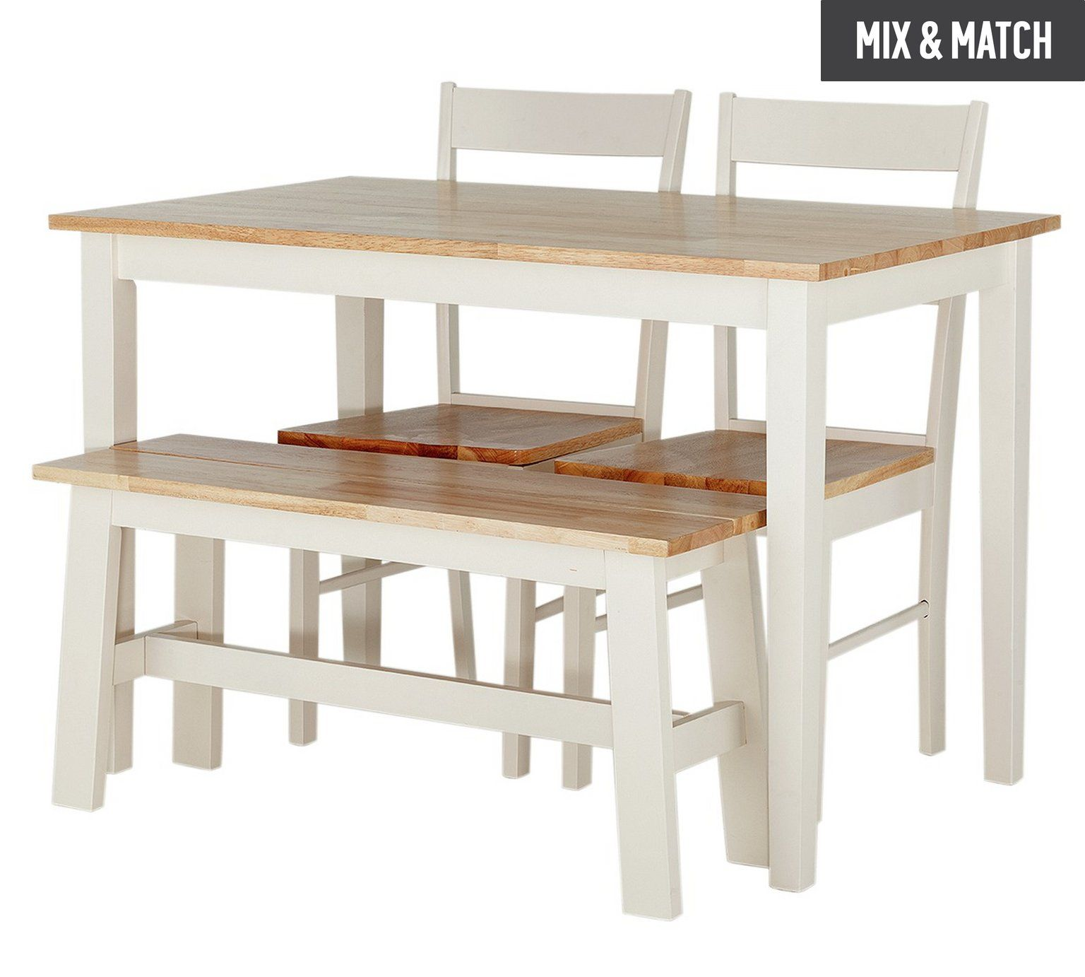 Buy Collection Chicago Solid Wood Table Bench & 2 Chairs at Argos