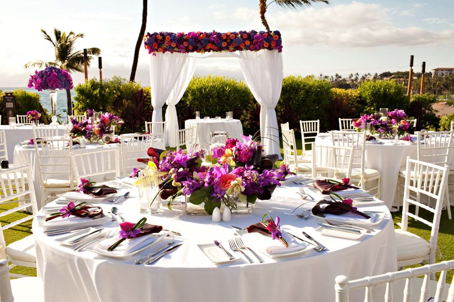 Hawaiian Centerpieces for Wedding Reception Home Wedding