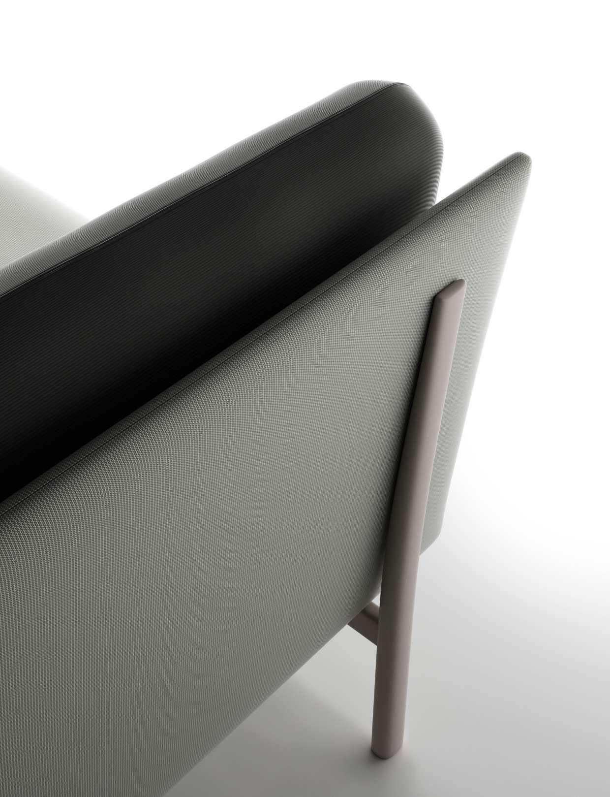 A detail of twelve sofa by PearsonLloyd Alias