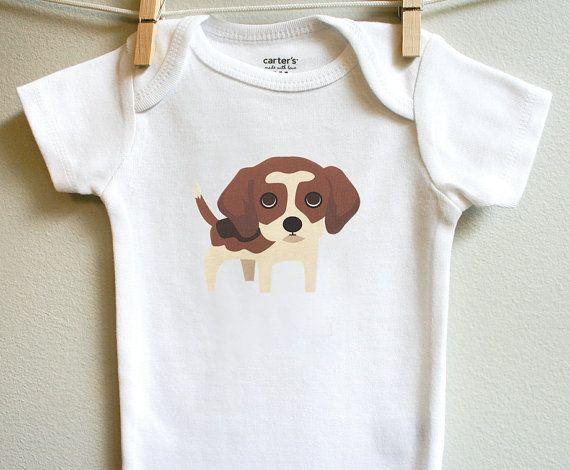 Beagle Baby Clothes Beagle Baby Onesie Beagle Baby Boydsuit