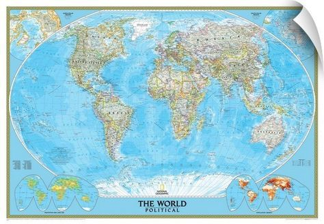 NGS political map of the World world