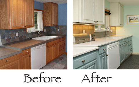 Sisu Painting Before and After - Kitchen cabinets (Large ...