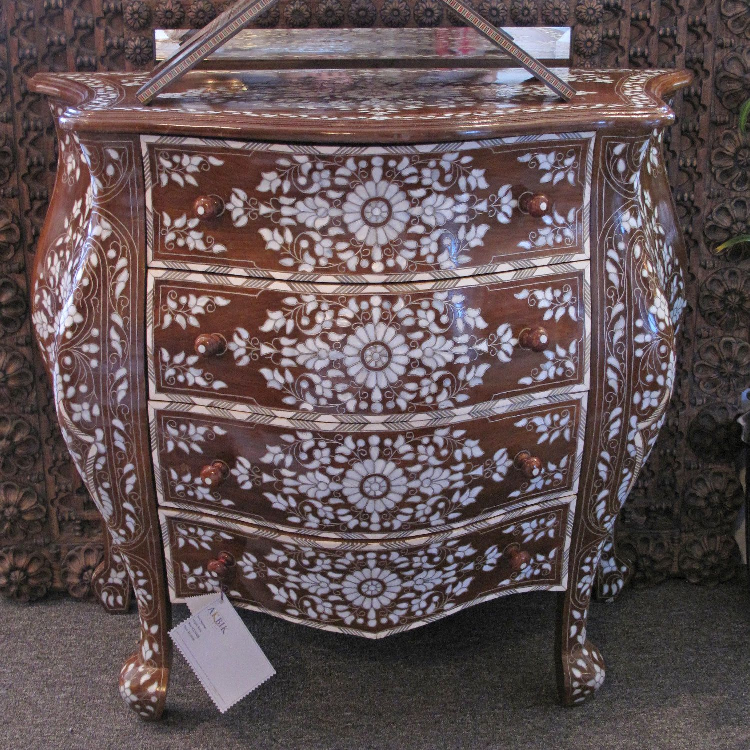 Moroccan & Syrian Furniture Syrian chest with French design