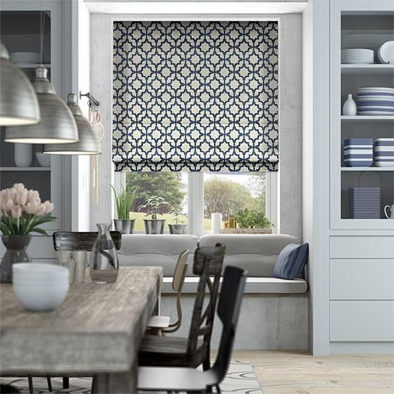 Design Order Contemporary Soft Lattice Navy Blue Blinds