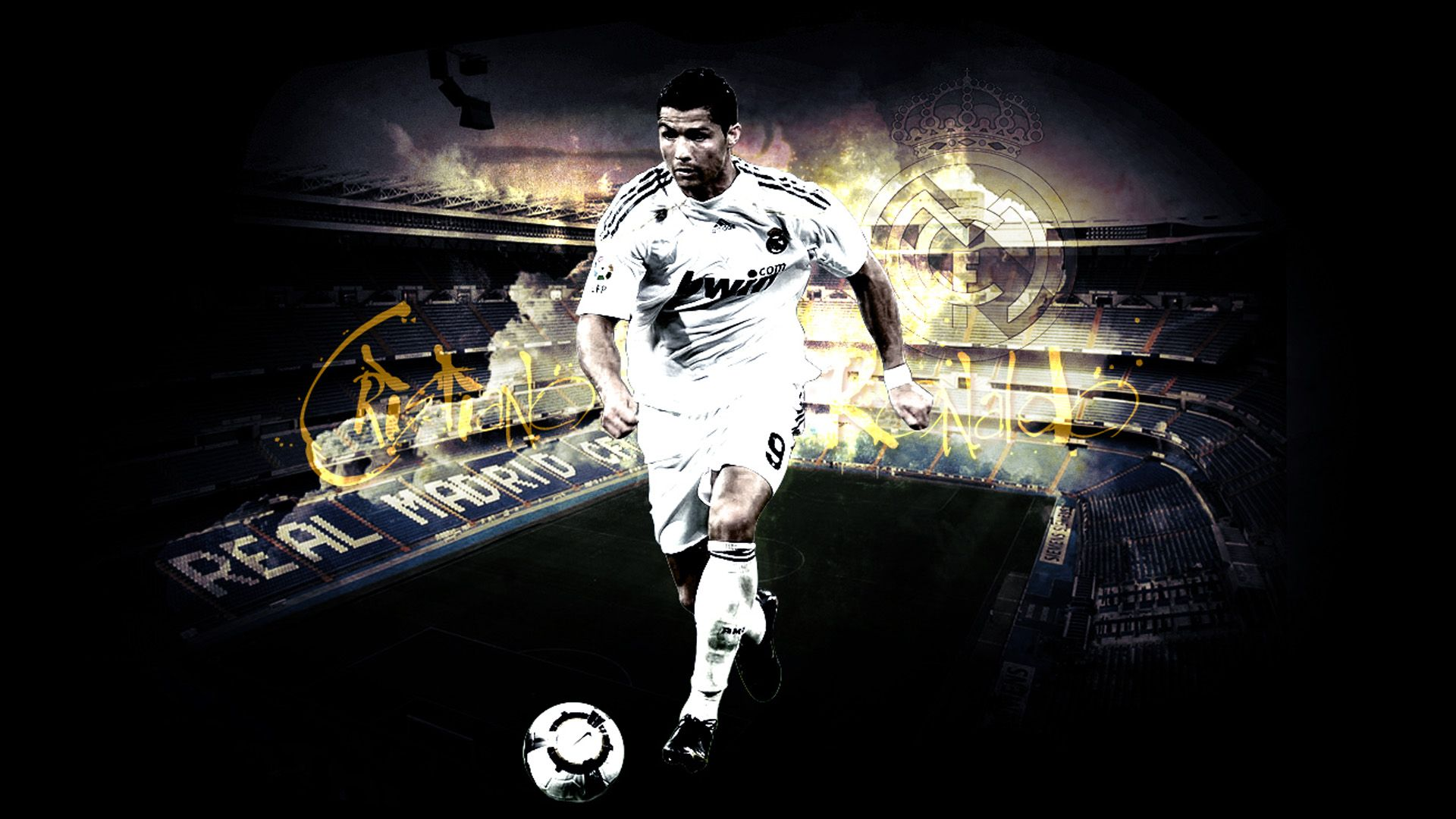 awesome cristiano ronaldo real madrid wallpaper hd pozadine