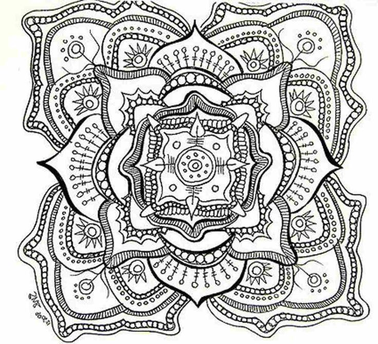 free printable mandala coloring pages for adults - Intricate Coloring Pages Kids