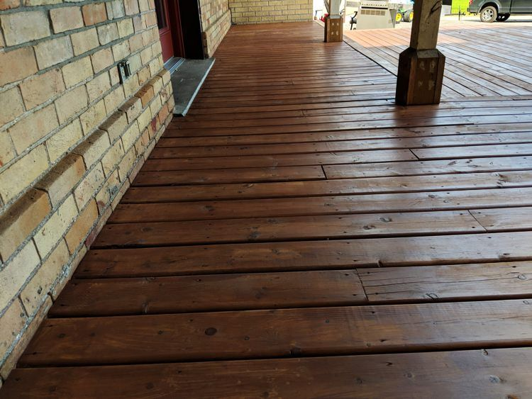 Clean darkwood deck stained deck paint staining deck