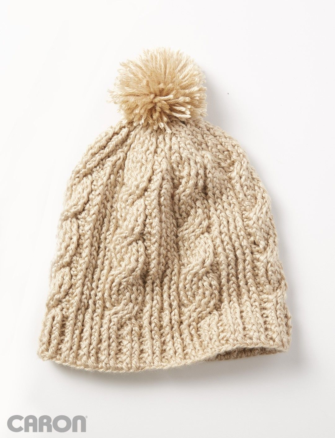 Yarnspirations.com - Caron Cable Twist Hat - Patterns ... bf1891e2f42