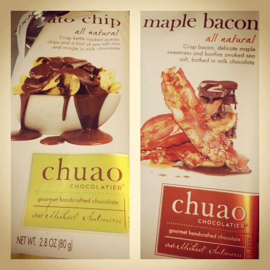 Potato chips n bacon chocolate...... So good!!!!