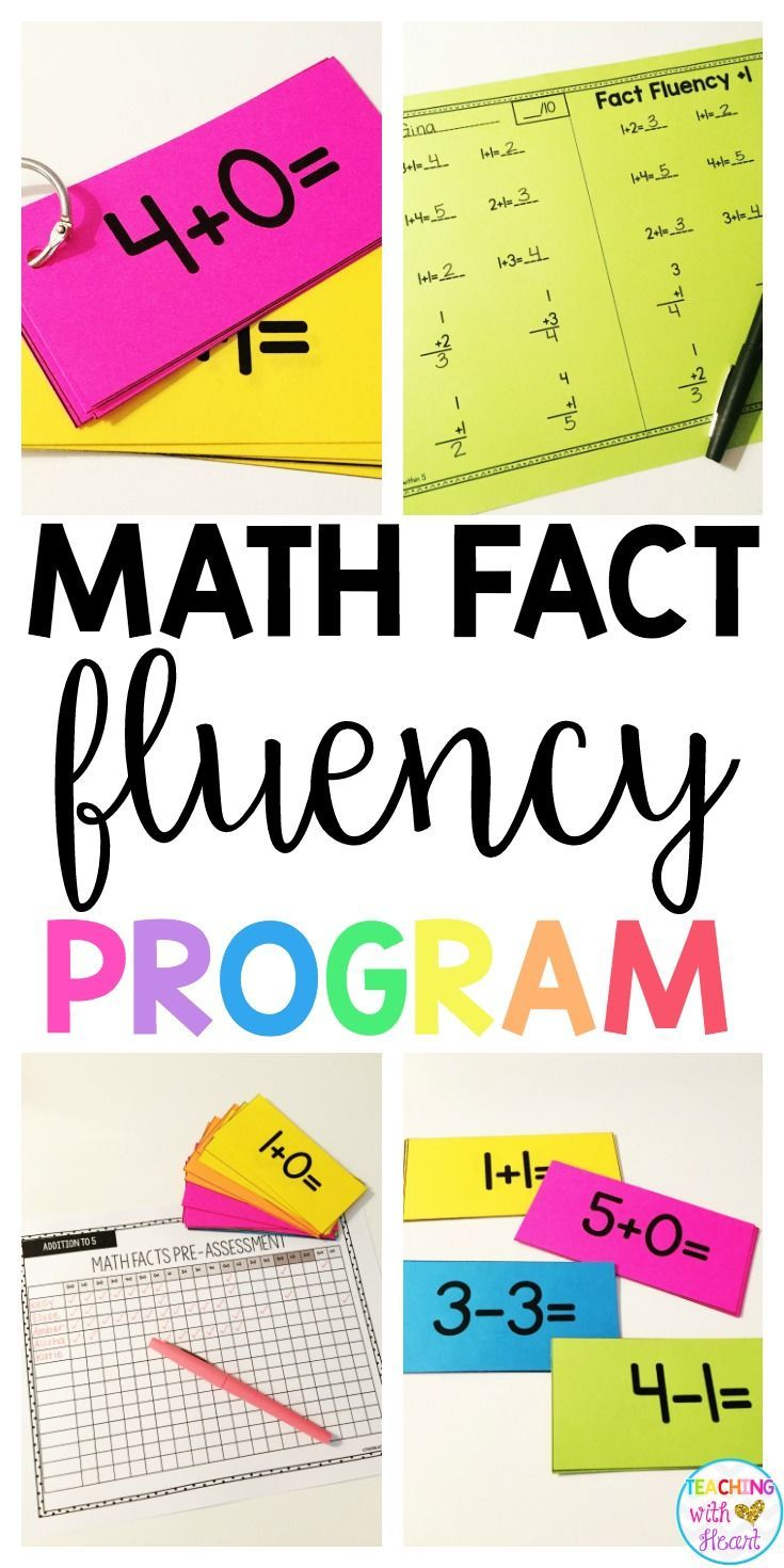 Math Fact Fluency (Addition and Subtraction) | Math facts, Math and ...