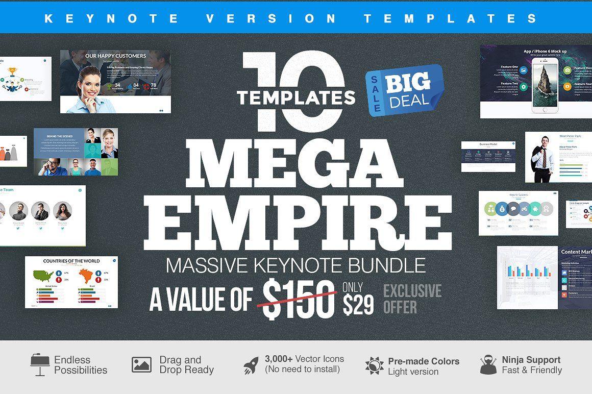 MEGA EMPIRE Keynote Bundle PRESENTATIONTEMPLATEAppleIndividual