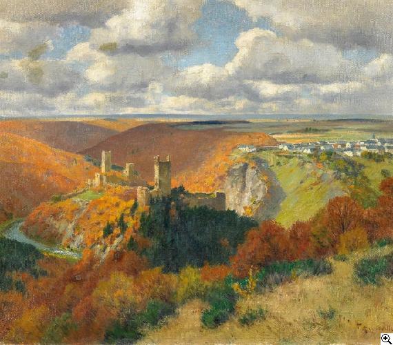 Fritz von Wille - Herbst in der Eifel bei Manderscheid
