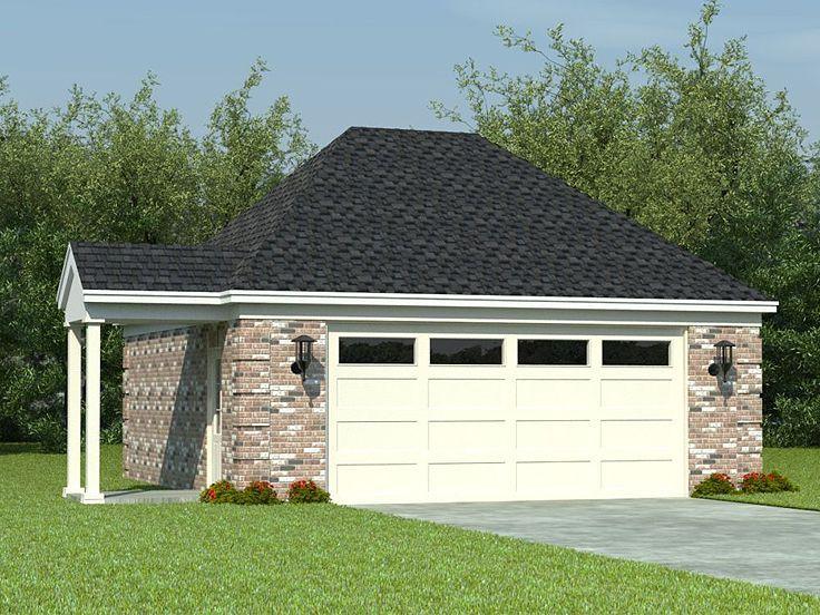 Two Car Garage Plan 006g 0040 Colonial House Plans Garage Plan Garage Plans Detached