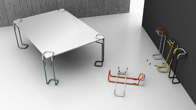 Systeme De Pieds De Table Clipp Pieds De Table Table Basse Pliante Deco Design