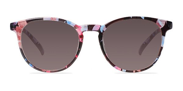 275868c08ed9e Transcend hipster chic with these blue floral sunglasses. This ultra  feminine frame comes in a semi-transparent floral acetate finish throughout  with ...