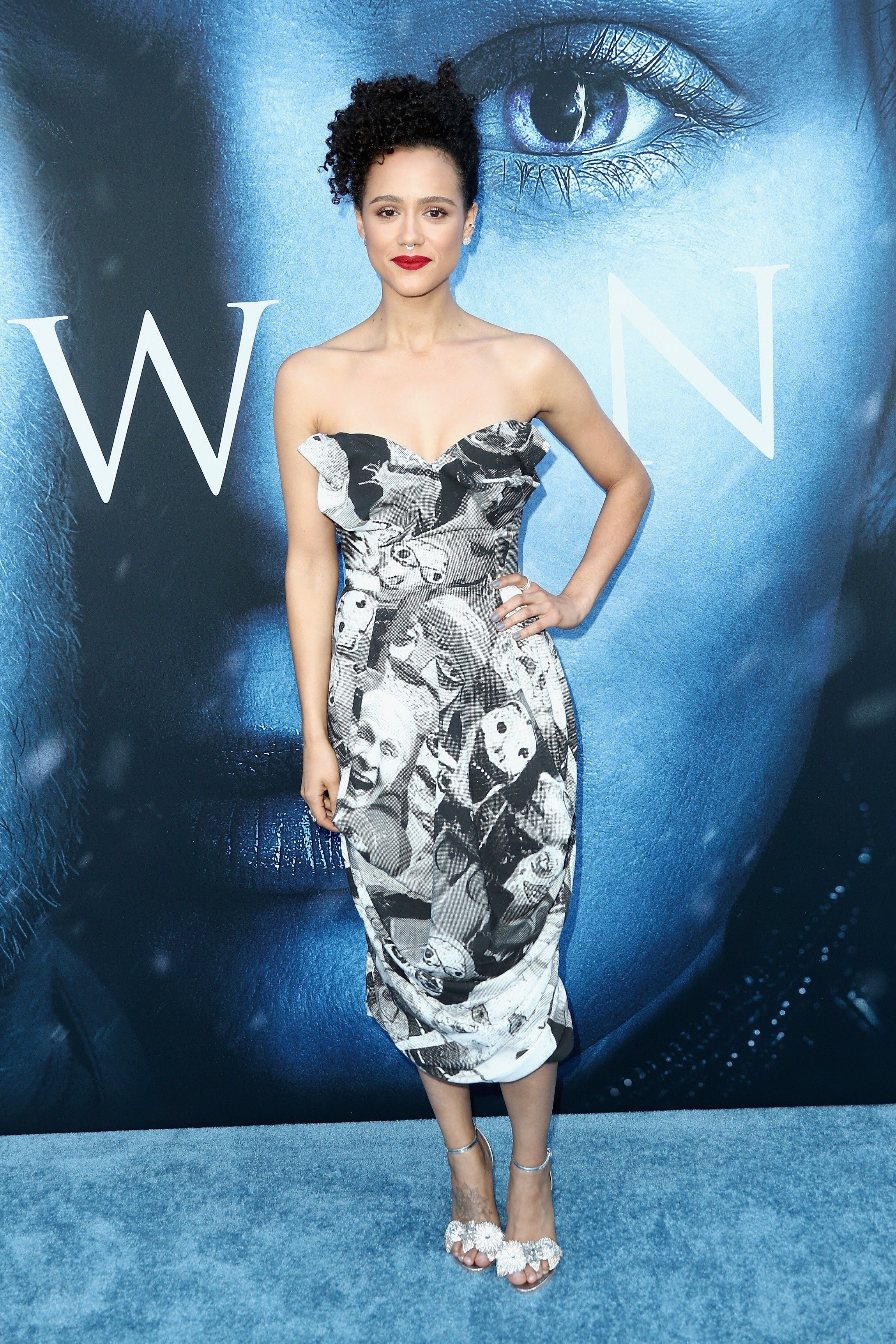 Nathalie Emmanuel in Vivienne Westwood   \'Game of Thrones\' Season 7 ...
