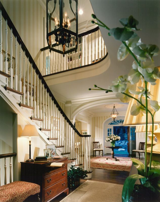 Grand foyer hallway pinterest foyers staircases and for Colonial foyer ideas