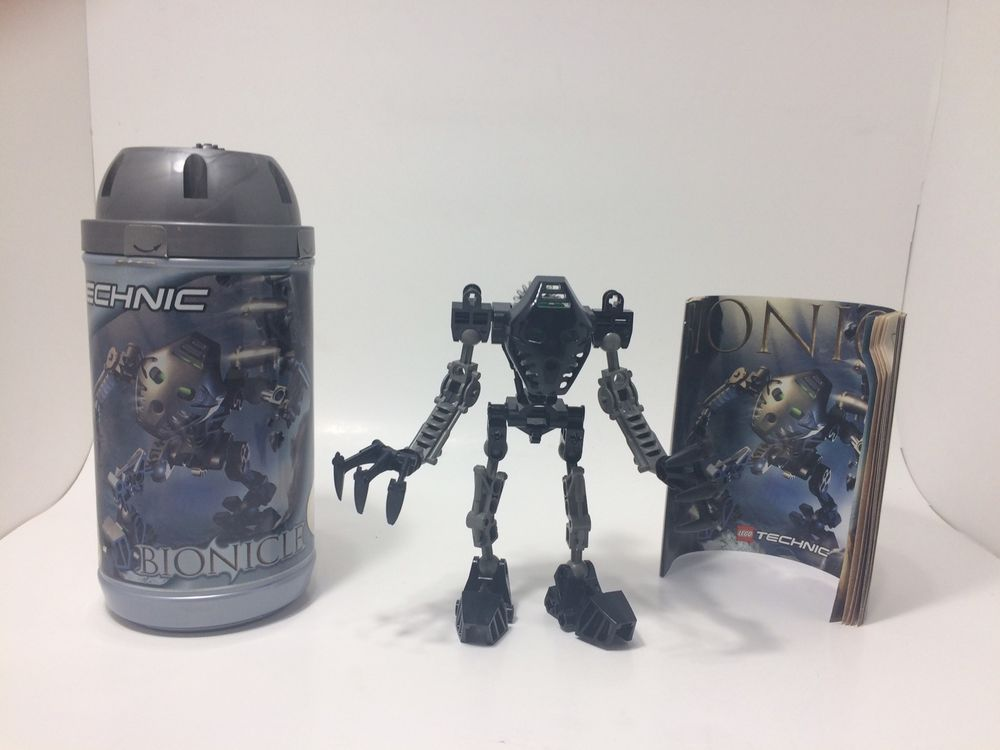 Lego Bionicle Toa Mata Onua 8532 With Canister And Instruction
