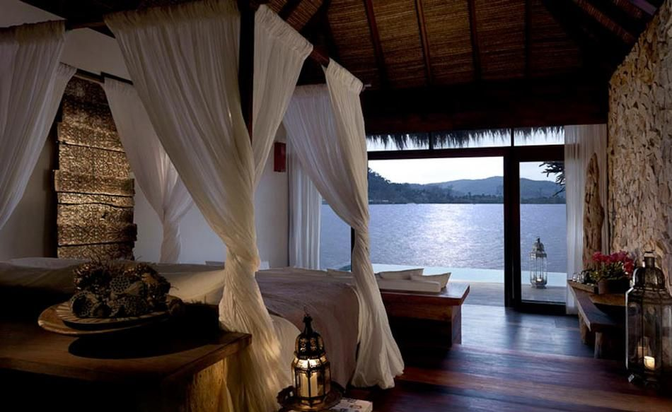 Four Poster Bed with a View of