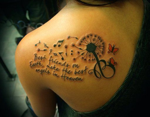 now that is a cool tattoo. the coolest best friend tattoo I\'ve seen ...