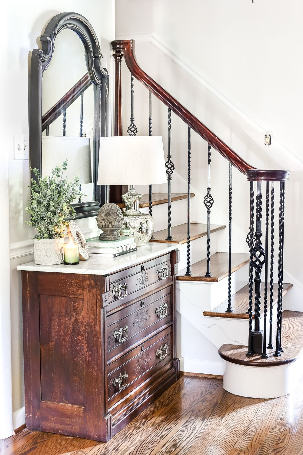 How to Remove Stains from Marble + Foyer Chest Makeover ...
